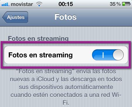 Como Restablecer Photostream y eliminar las fotografías de iCloud y tus dispositivos - IMG_0301