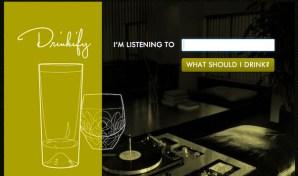 Drinkify, un servicio online que nos recomendará una bebida según la música que escuchemos