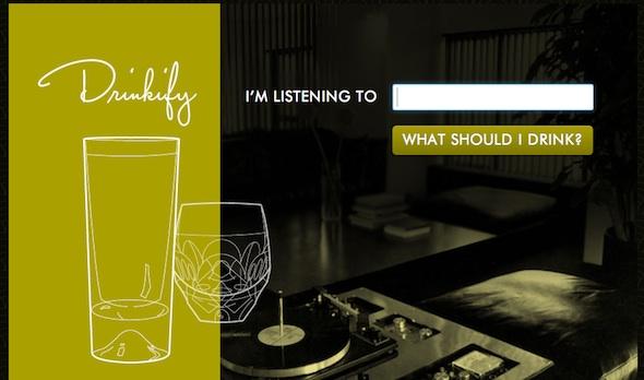 Drinkify, un servicio online que nos recomendará una bebida según la música que escuchemos - drinkify