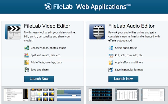 Edición de audio y video online gratuito y sencillo con Filelab - filelab