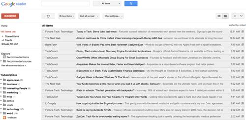 reader nuevo1 Gmail y Google Reader se renuevan