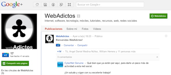 webadictos google plus Google+ ya admite la creación de páginas para empresas