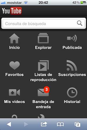 Un vistazo a la nueva versión móvil de YouTube para iOS - youtube-movil