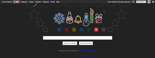 Captura de pantalla 2011 12 23 a las 15.43.39 Google celebra la Navidad con su increíble Doodle conmemorativo