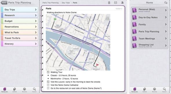 Onenote ipad Microsoft lanza las aplicaciones de SkyDrive, OneNote y Kinectimals para iOS