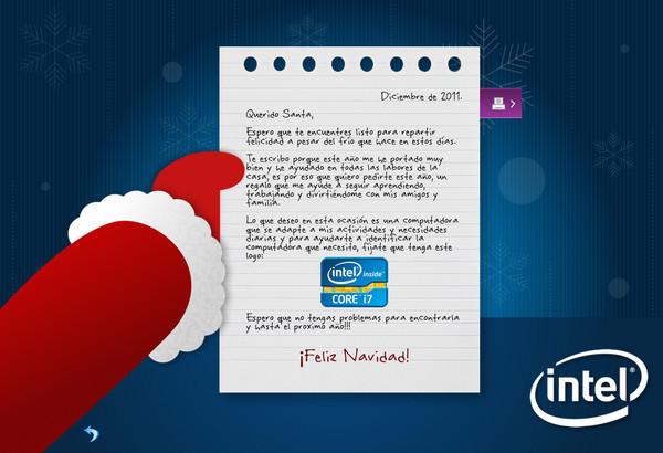 Deja que Intel te ayude a elegir la computadora que quieres para Navidad - carta-santa-intel