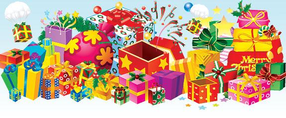 christmas gifts Colección de vectores de Navidad para tus diseños