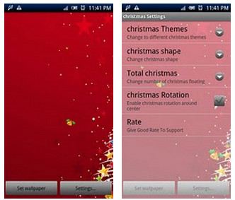 christmas live wallpaper pro1 Colección de Live Wallpapers navideños para Android