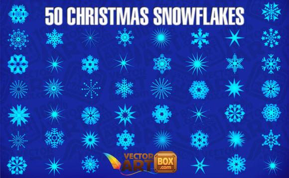 Colección de vectores de Navidad para tus diseños - christmas-snowflakes