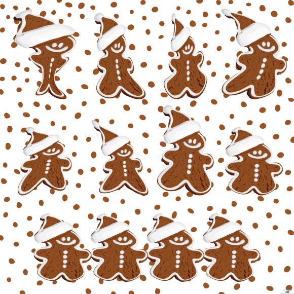 Colección de vectores de Navidad para tus diseños - gingerbread-cookies-vector
