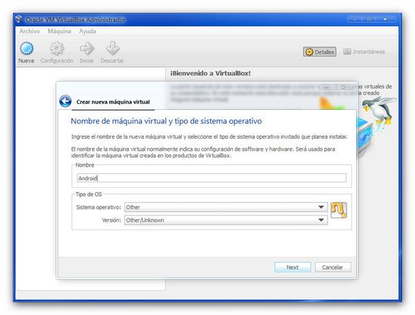 Probar Android 3.2 Honeycomb desde una máquina virtual - honeycombvb