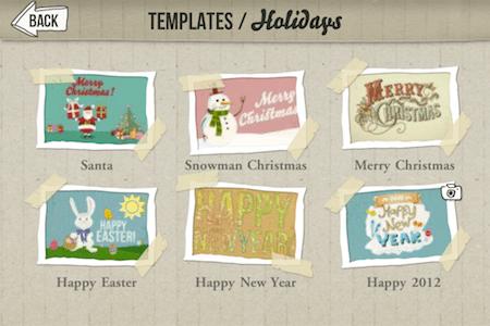 Envia postales a tus seres queridos con estas 4 apps para iOS en éstas fechas - howdy-app-iphone