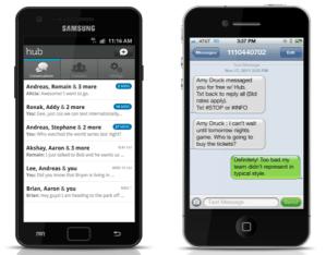 Yahoo Hub, un nuevo e importante cliente de mensajería instantánea para móviles