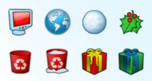 Increíbles iconos de Navidad para PC