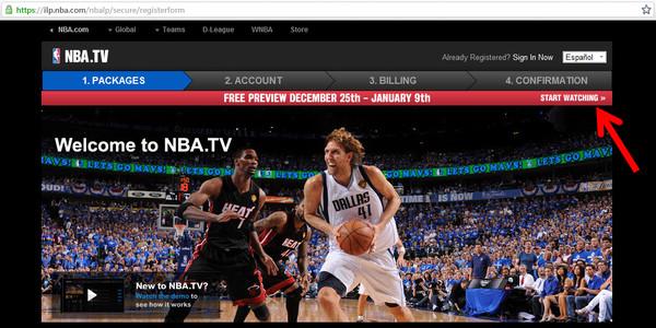 nba.tv free preview Cómo ver todos los partidos de la NBA por 2 semanas en NBA.TV
