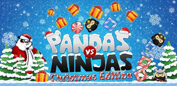 Los mejores juegos de Navidad para Android - pandas-vs-ninjas