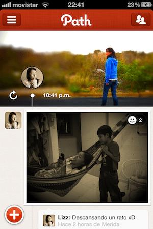 path1 Las mejores aplicaciones sociales para iPhone que nos dejó el 2011