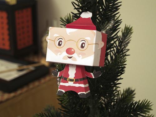 Colección con los mejores Paper Toys para Navidad - santa-claus-paper-toy