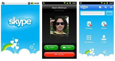 Comparte fotos y video con Skype 2.6 para Android - skye-26