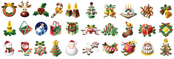 Colección de vectores de Navidad para tus diseños - xmas-icons