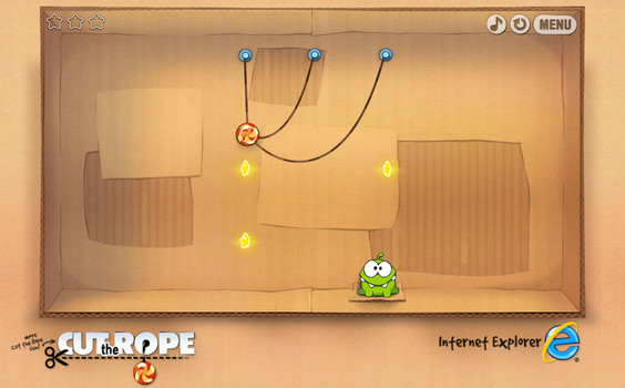 Cut the Rope en linea, desarrollado en HTML5 - cut-the-rope
