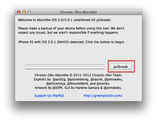 ios jailbreak iphone4s ipad2 absinthe Jailbreak para iPhone 4S e iPad 2 con iOS 5.0.1 con Absinthe por fin disponible
