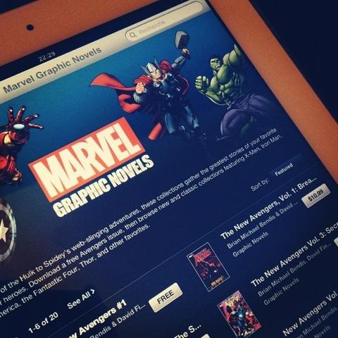 Los cómics de Marvel llegan a la iBookStore