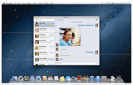 Captura de pantalla 2012 02 16 a las 16.12.12 Mensajes llega a Mac OS X Lion de forma Beta