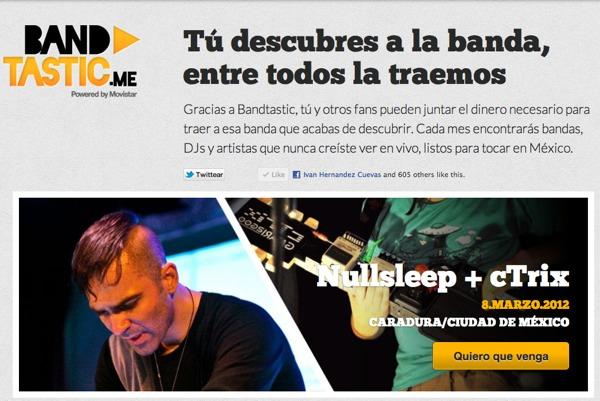 Bandtastic, la innovadora forma de hacer conciertos trae a Nullsleep y cTrix a México - bandtastic-ctrix-nullsleep