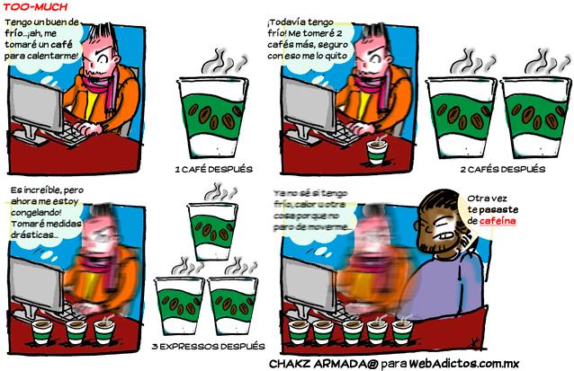 cafe too much ¿Qué pasa si tomas mucho café? [Humor]