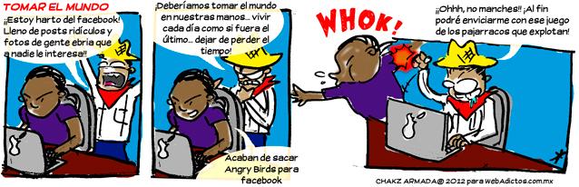 facebook angry birds humor Dejar Facebook y tomar el mundo [Humor]