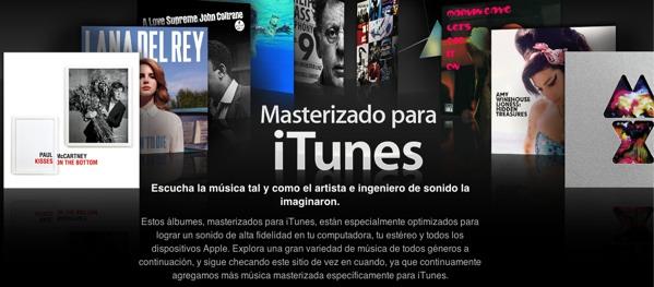Masterizados para iTunes, lo que los amantes del buen sonido estaban esperando - itunes-masterizados