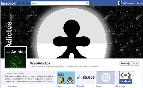 webadictos timeline Páginas de Facebook ya pueden acceder al nuevo diseño