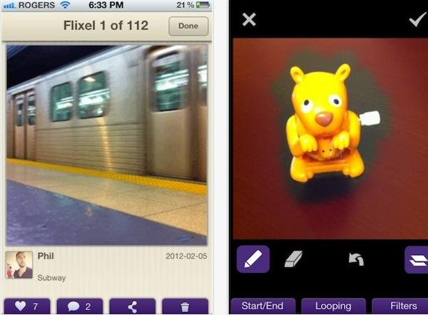 Flixel Crear fotografías con movimiento con Flixel para iPhone