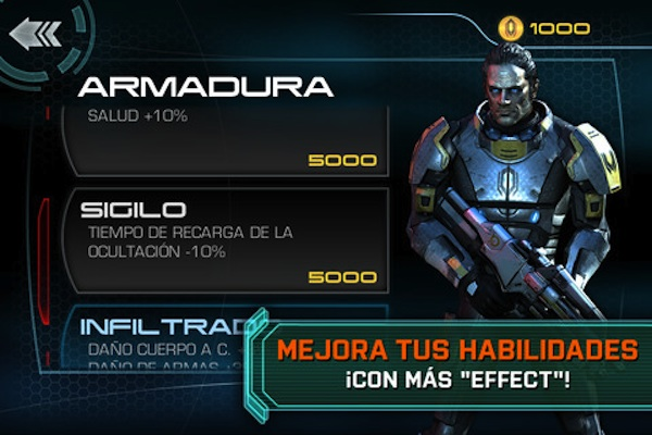 Mass effect para ipad Mass Effect Infiltrator disponible para descargar en la App Store