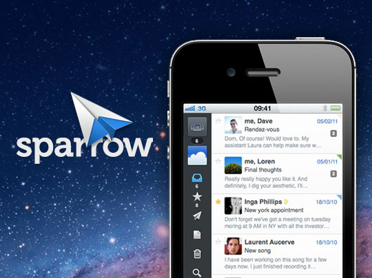 Notificaciones Push a Sparrow para iPhone con Push Sparrow