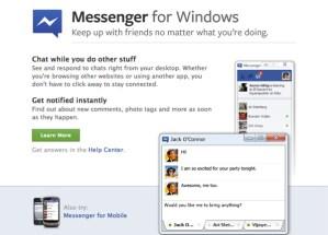 Facebook Messenger oficialmente disponible para descargar