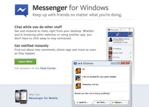 Facebook Messenger oficialmente disponible para descargar