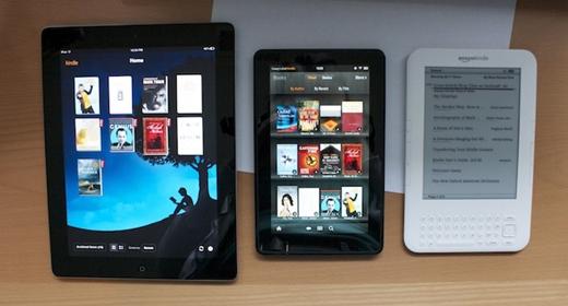 ¿Qué tan dificil puede ser leer un libro en una tableta? - ipad-kindle-fire