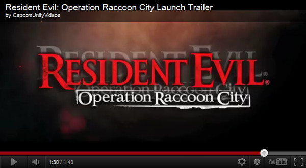 resident evil operation racoon city Resident Evil: Operation Racoon City disponible y su tráiler de lanzamiento