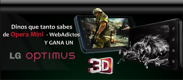 Gana un LG Optimus 3D en el reto Opera Mini - WebAdictos - reto-opera-webadictos-590x260
