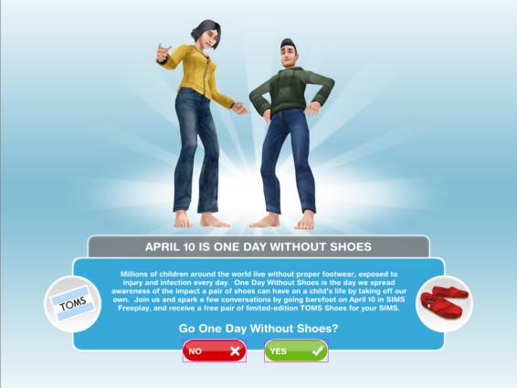 Celebra el Día sin Zapatos con The Sims Free - sims-free-zapatos