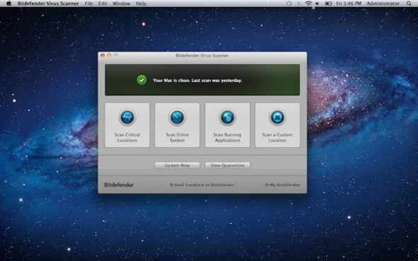 Antivirus gratuito para Mac: Bitfender Virus Scanner - Bitdefender-mac-590x368