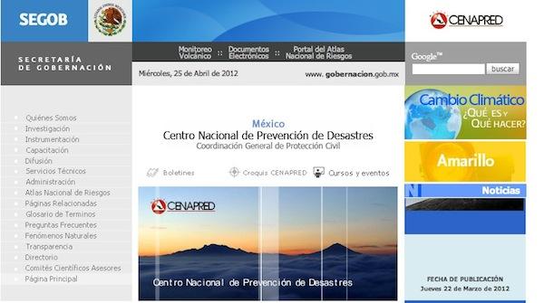 CENAPRED Infórmate sobre erupciones volcánicas, sismos y otros desastres en México en CENAPRED
