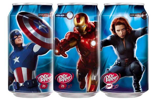 Dr Pepper anuncia las latas coleccionables de la película de The Avengers - Dr-pepper-latas-avenger