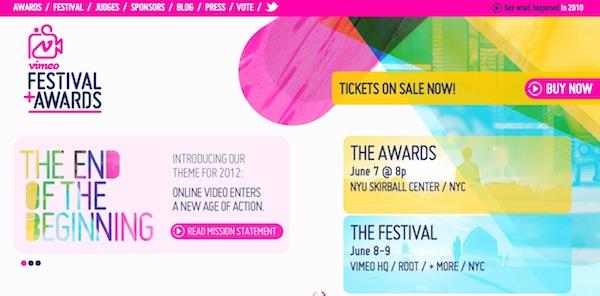 Vimeo Festival + Awards 2012, un evento cargado de contenido audiovisual digital - Vimeo-festival-awards-2012