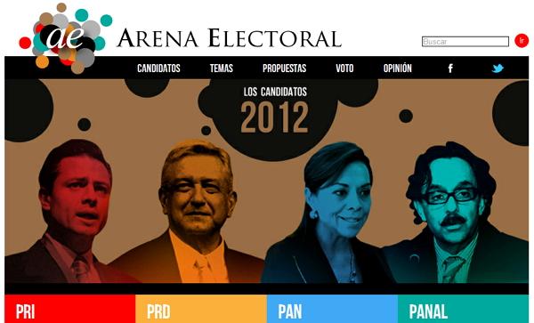 arenaelectoral Tres sitios para ayudarte a elegir a tu candidato favorito para la Presidencia de México