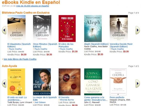 Amazon presenta y pone a disponibilidad su tienda de libros en español - ebooks-590x441