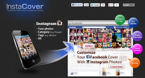 Personaliza tu cabecera de Facebook con InstaCover - instacover