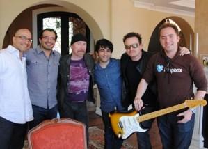 Integrantes de la banda U2 invierten en Dropbox